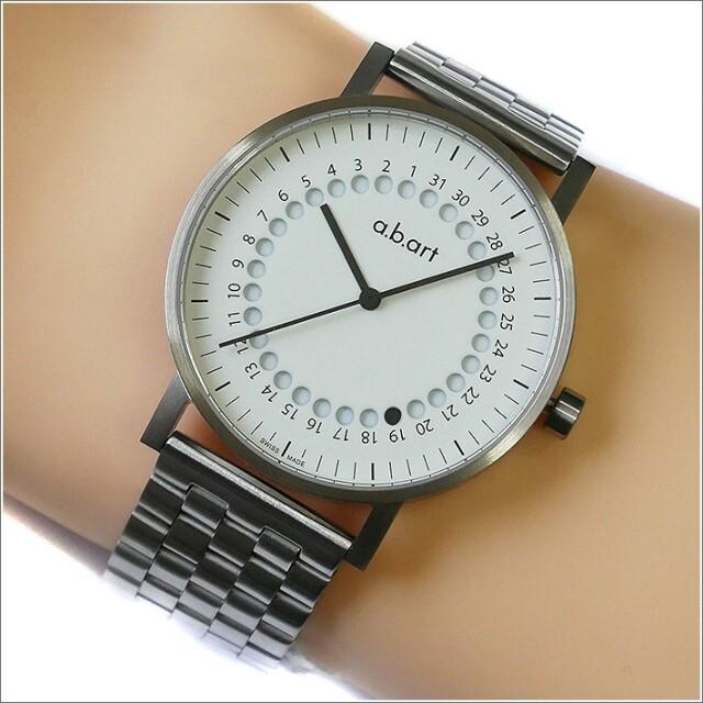 エービーアート a.b.art 腕時計 SERIES O O-101(W) ホワイト文字盤 41mm シルバー メタルベルト クォーツ