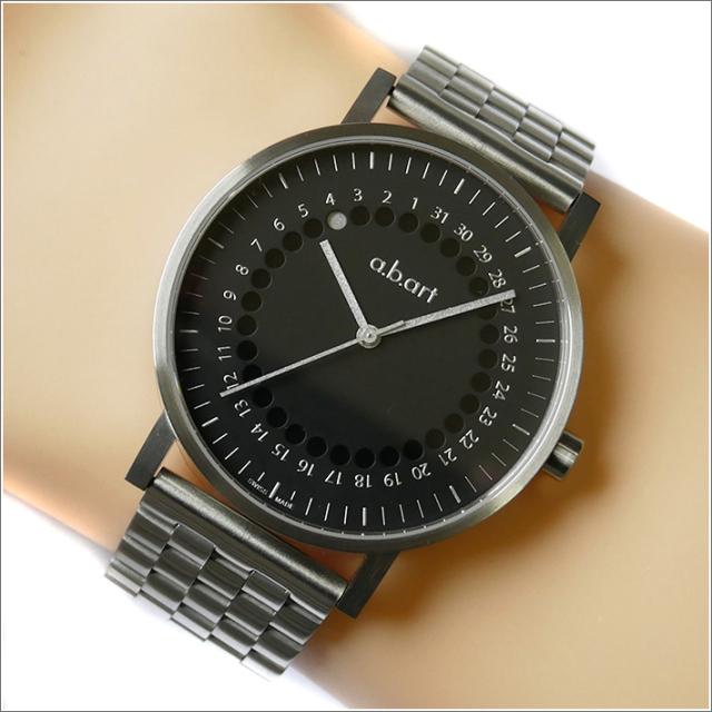 エービーアート a.b.art 腕時計 SERIES O O-102 ブラック文字盤 41mm シルバー メタルベルト クォーツ