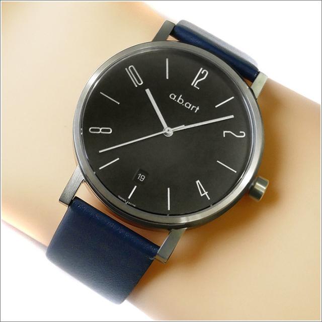 エービーアート a.b.art 腕時計 SERIES O O-107NV ブラック文字盤 41mm ネイビー カーフレザーベルト クォーツ