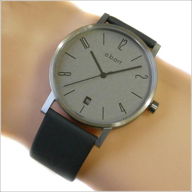 エービーアート a.b.art 腕時計 SERIES O O-111 シルバーグレー文字盤 41mm グレー カーフレザーベルト クォーツ