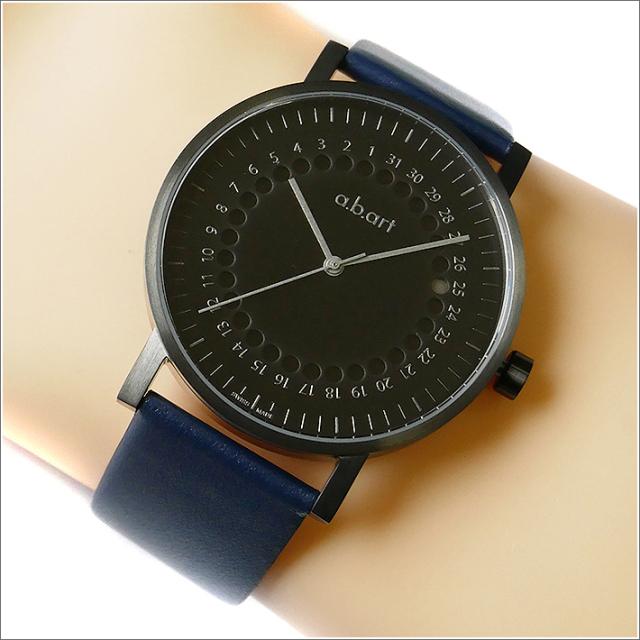 エービーアート a.b.art 腕時計 SERIES O O-O202BL ブラック文字盤 41mm ネイビー カーフレザーベルト クォーツ