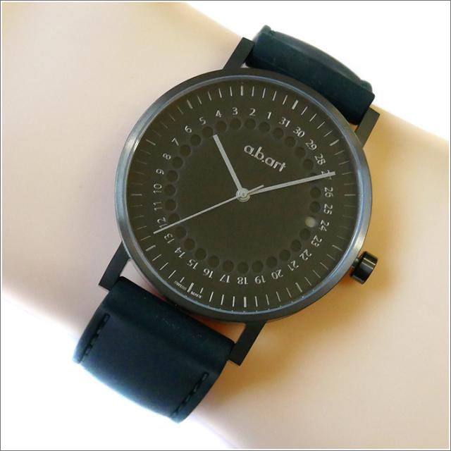 エービーアート a.b.art 腕時計 SERIES O O-202 ブラック文字盤 41mm ブラック ラバーベルト クォーツ