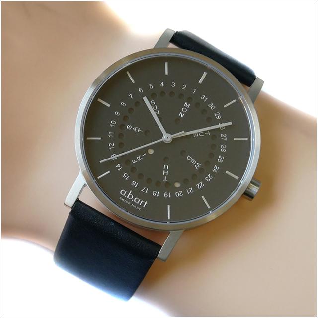 エービーアート a.b.art 腕時計 SERIES O O-502 ブラック文字盤 41mm ブラック カーフレザーベルト クォーツ