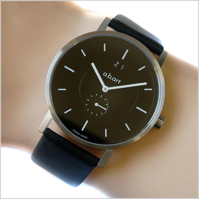 エービーアート a.b.art 腕時計 SERIES O O-602 ブラック文字盤 41mm ブラック カーフレザーベルト クォーツ
