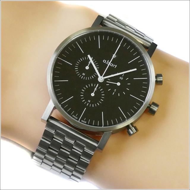 エービーアート a.b.art 腕時計 SERIES OC OC-103 ブラック文字盤 41mm シルバー メタルベルト クォーツ
