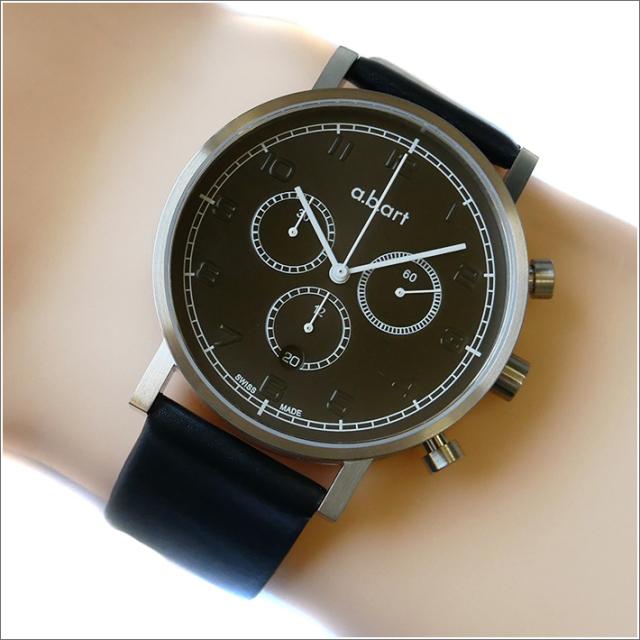 エービーアート a.b.art 腕時計 SERIES OC OC-106 ブラック文字盤 41mm ブラック カーフレザーベルト クォーツ