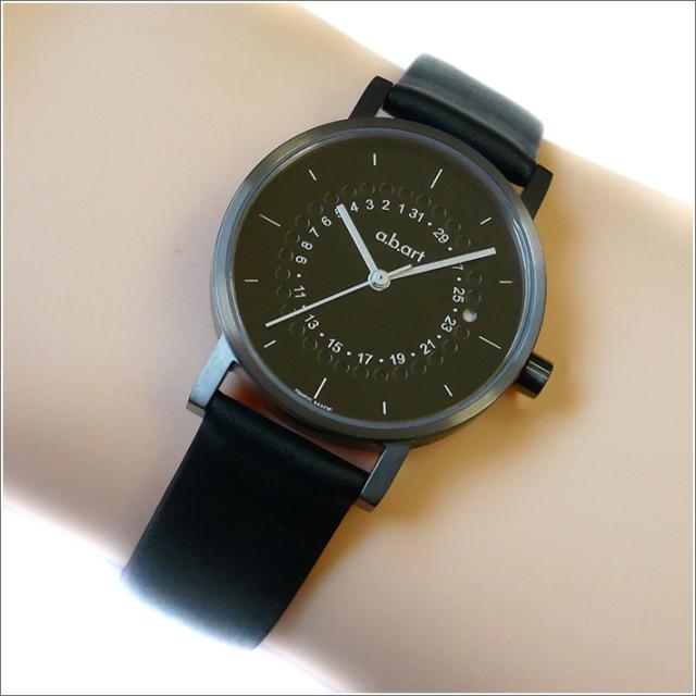 エービーアート a.b.art 腕時計 SERIES OS OS-201 ブラック文字盤 32mm ブラック カーフレザーベルト クォーツ
