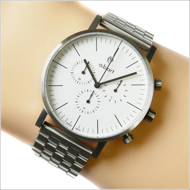 エービーアート a.b.art 腕時計 SERIES OC OC-101 ホワイト文字盤 41mm シルバー メタルベルト クォーツ