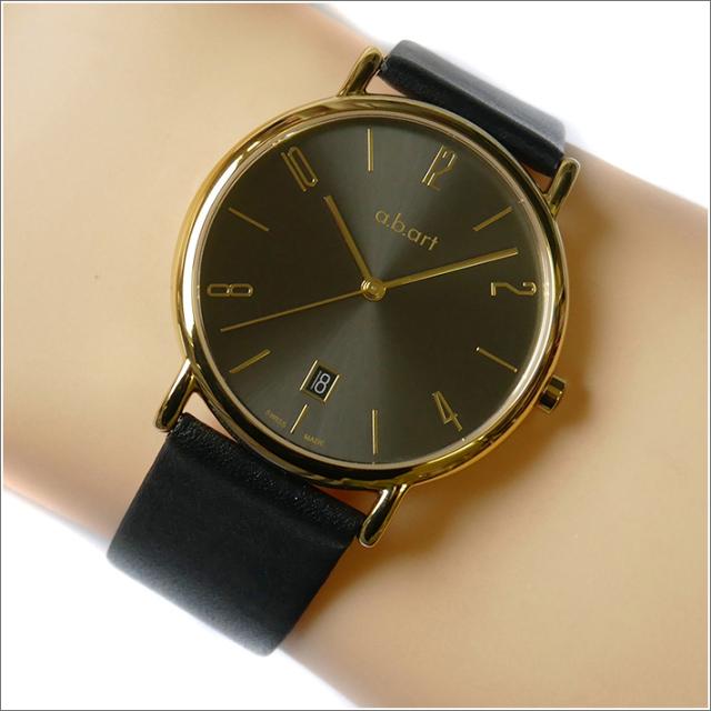 エービーアート a.b.art 腕時計 SERIES KLD KLD-121BK ブラック文字盤 38mm ブラック カーフレザー クォーツ