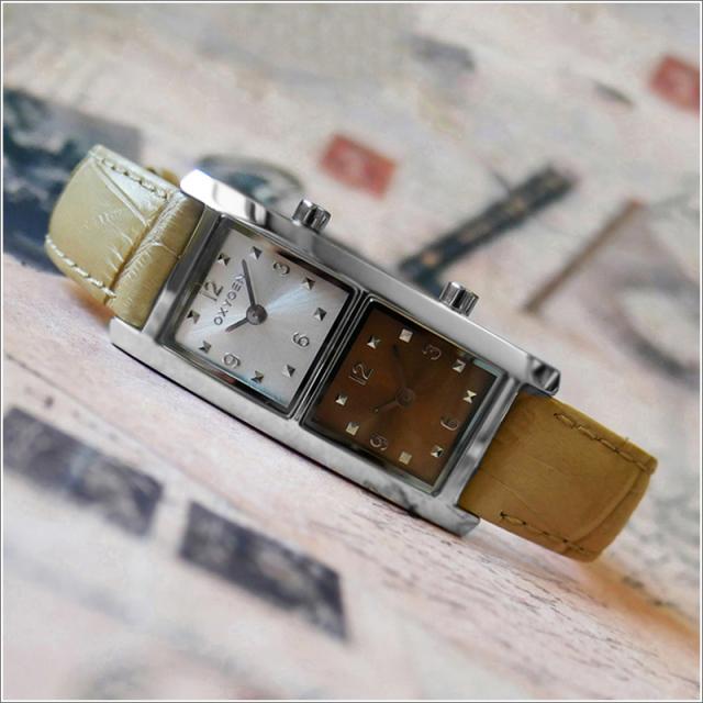 オキシゲン OXYGEN 腕時計 デュアルタイム 20009L-DT-BE レザーベルト アウトレット品