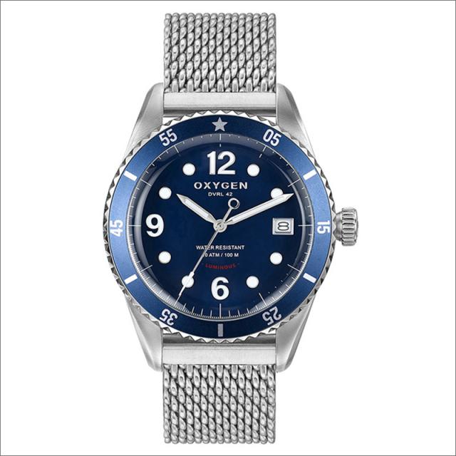 オキシゲン OXYGEN 腕時計 ダイバーレジェンド 42 BALTIC L-D-BAL-42 (224325) メッシュメタルベルト