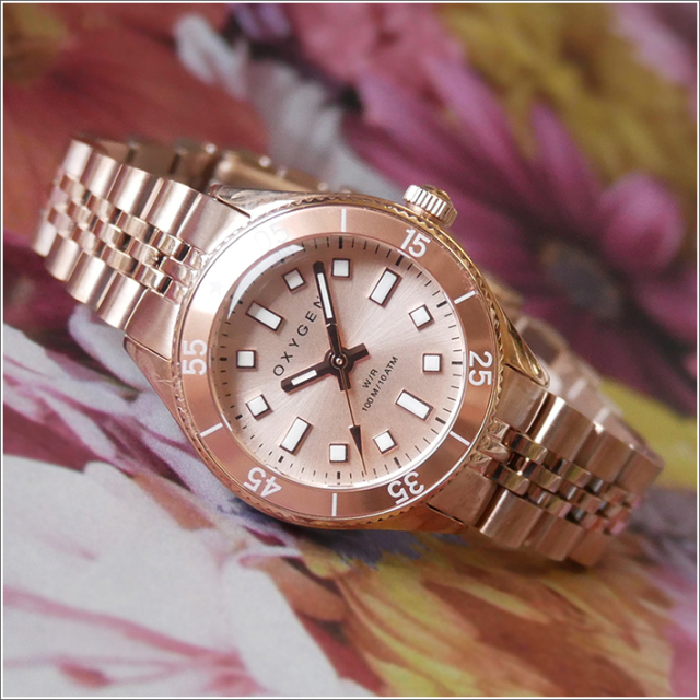 オキシゲン OXYGEN 腕時計 ダイバーレジェンド ミニ26 CORAIL L-DM-COR-26 (224364) クォーツ 3針 メタルベルト