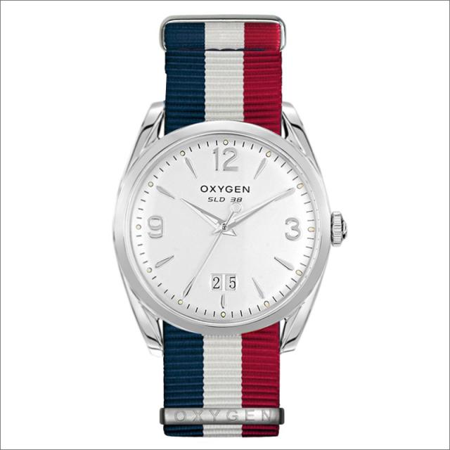 オキシゲン OXYGEN 腕時計 スポーツレジェンド 38 REAGAN L-S-38-NS (224369) クォーツ 3針 デイト テキスタイルベルト