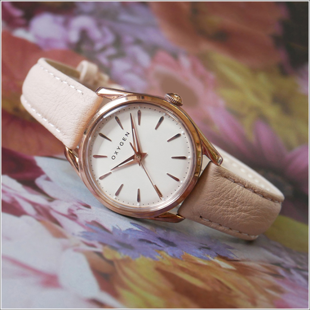 オキシゲン OXYGEN 腕時計 スポーツレジェンド 28 SKIN L-S-SKI-28 (224359) クォーツ 3針 レザーベルト