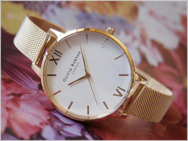 オリビアバートン OLIVIA BURTON 腕時計 OB15BD84 レディース メッシュメタルベルト