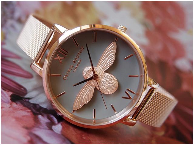 オリビアバートン OLIVIA BURTON 腕時計 OB16AM117 レディース メッシュメタルベルト