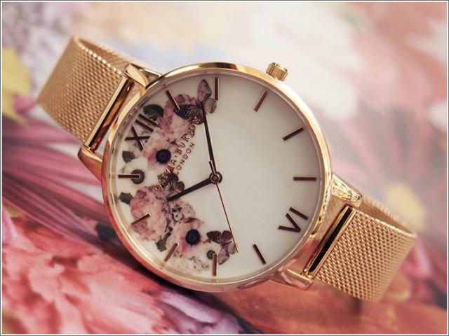 オリビアバートン OLIVIA BURTON 腕時計 OB16WG18 レディース メッシュメタルベルト