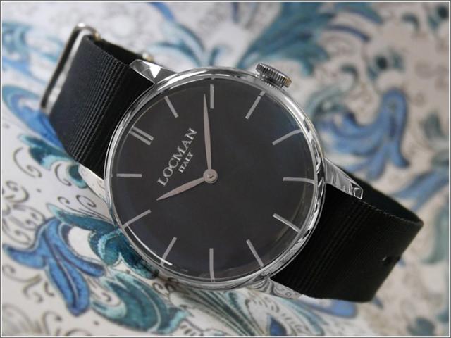 ロックマン LOCMAN 腕時計 0251V01-00BKNKNK 1960 テキスタイルベルト