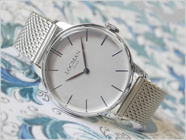ロックマン LOCMAN 腕時計 0251V06-00AGNKB0 1960 メッシュメタルベルト