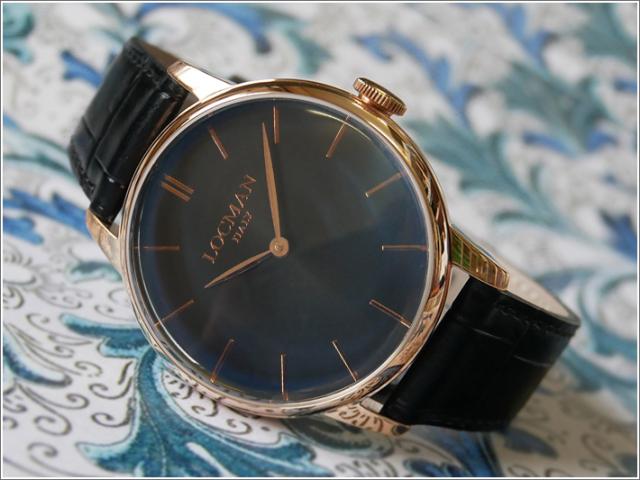ロックマン LOCMAN 腕時計 0251V09-RGBKRGPK 1960 レザーベルト