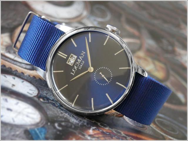 ロックマン LOCMAN 腕時計 0252V02-00BLNKNB 1960 DATE テキスタイルベルト