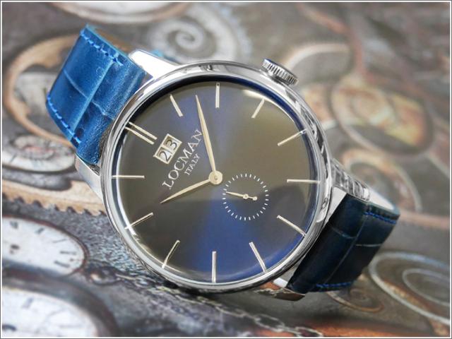 ロックマン LOCMAN 腕時計 0252V02-00BLNKPB 1960 DATE レザーベルト
