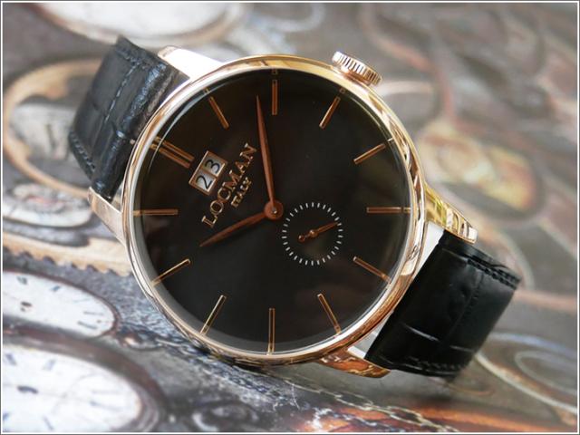 ロックマン LOCMAN 腕時計 0252V09-RGBKRGPK 1960 DATE レザーベルト