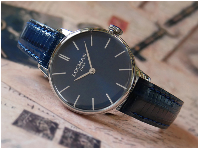 ロックマン LOCMAN 腕時計 0253A02A-00BLNKPB 1960 LADY レザーベルト
