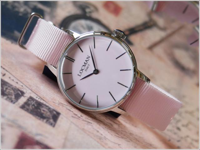 ロックマン LOCMAN 腕時計 0253A11A-00PKNKNP 1960 LADY テキスタイルベルト