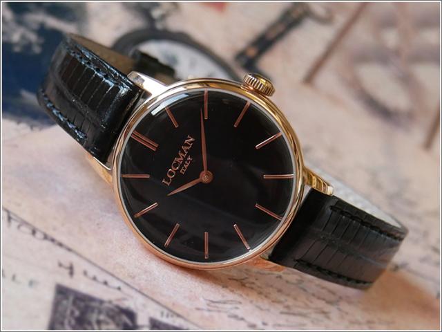 ロックマン LOCMAN 腕時計 0253R01R-RRBKRGPK 1960 LADY レザーベルト