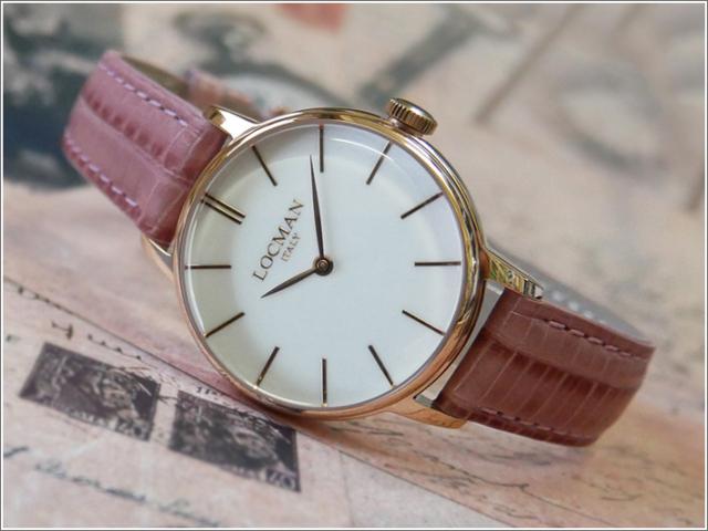 ロックマン LOCMAN 腕時計 0253R08R-RRWHRGPP 1960 LADY レザーベルト