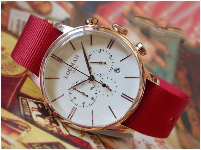 ロックマン LOCMAN 腕時計 0254R05R-RRAVRGNR 1960 CHRONOGRAPH テキスタイルベルト