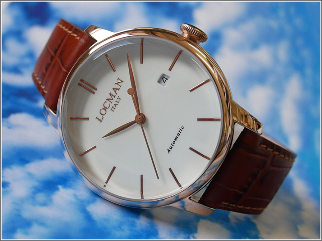 ロックマン LOCMAN 腕時計 0255R05R-RRAVRGPN 1960 AUTOMATIC レザーベルト