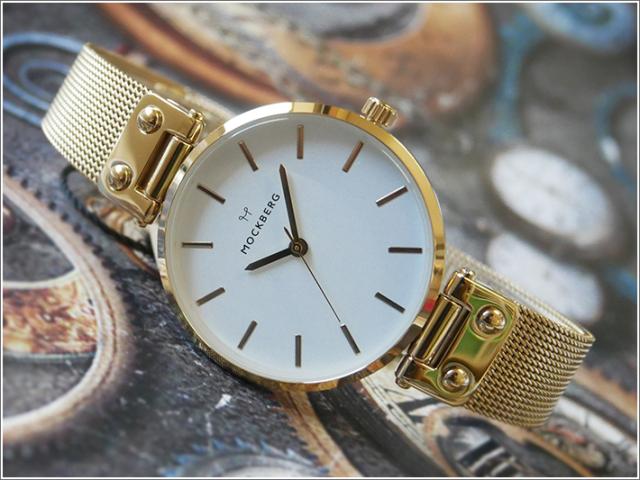 モックバーグ MOCKBERG 腕時計 MO1601 Livia レディース クォーツ メッシュメタルベルト