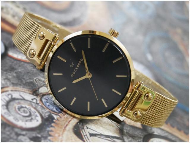 モックバーグ MOCKBERG 腕時計 MO1603 Livia Noir レディース クォーツ メッシュメタルベルト