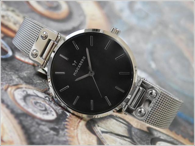 モックバーグ MOCKBERG 腕時計 MO1604 Elise Noir レディース クォーツ メッシュメタルベルト