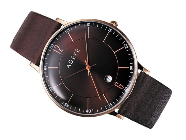 アデクス ADEXE 腕時計 2046B-01 クォーツ 41mm メンズ
