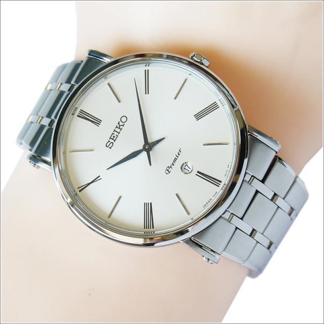 セイコー SEIKO 腕時計 SKP391J1 メンズ メタルベルト プルミエ クォーツ (Cal 7N39)