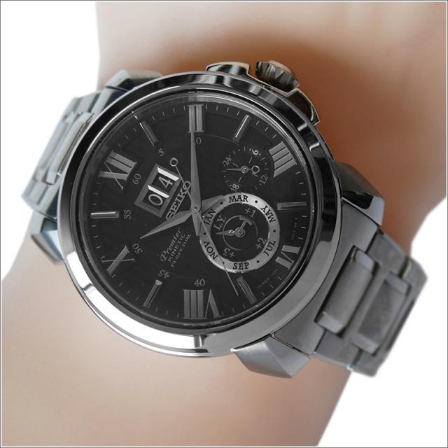 セイコー SEIKO 腕時計 SNP141J1 メンズ メタルベルト プルミエ キネティック パーペチュアル (Cal 7D56)