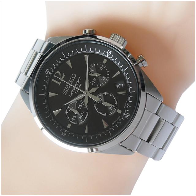 セイコー SEIKO 腕時計 SSB067J1 メンズ メタルベルト クロノグラフ クォーツ (Cal 6T63)