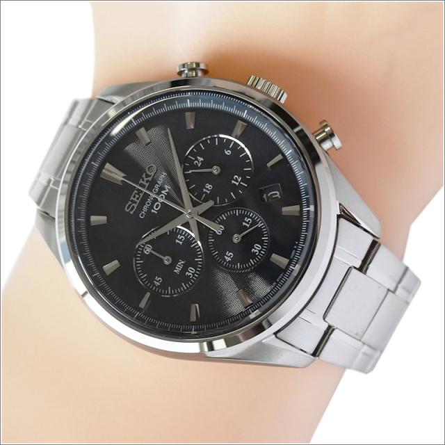 セイコー SEIKO 腕時計 SSB223J1  メンズ メタルベルト クロノグラフ 100m防水 クォーツ (Cal 8T63)