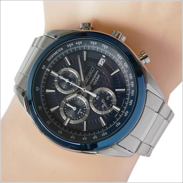 セイコー SEIKO 腕時計 SSB177J1 メンズ メタルベルト クロノグラフ 100m防水 クォーツ (Cal 8T67)