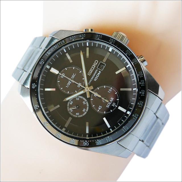 セイコー SEIKO 腕時計 SSC725J1 メンズ メタルベルト クロノグラフ 100m防水 ソーラー (Cal V176)