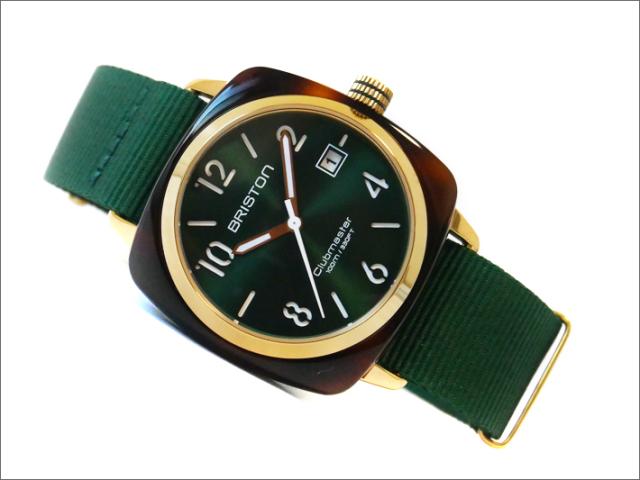 ブリストン 腕時計 520P10NH 40mm 15240.PYA.T.10.NBG クラブマスタークラシック アセテート ゴールド クォーツ (ベルト長さ 245mm)