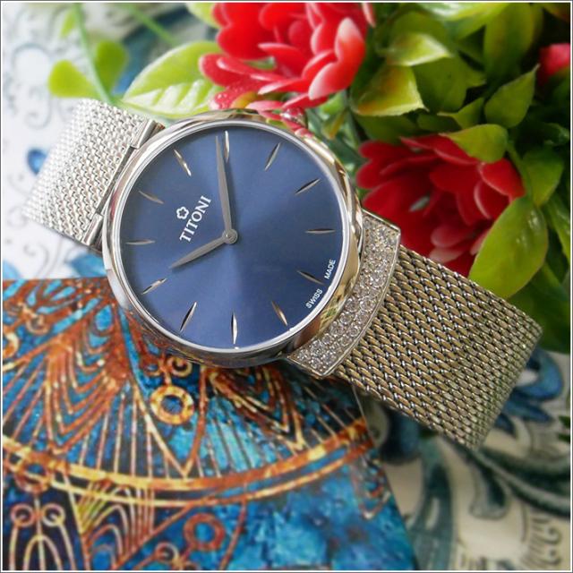 チトーニ TITONI 腕時計 TQ 42912 S-591 マドモアゼル バイ チトーニ MADEMOISELLE BY TITONI レディース クォーツ メタルベルト
