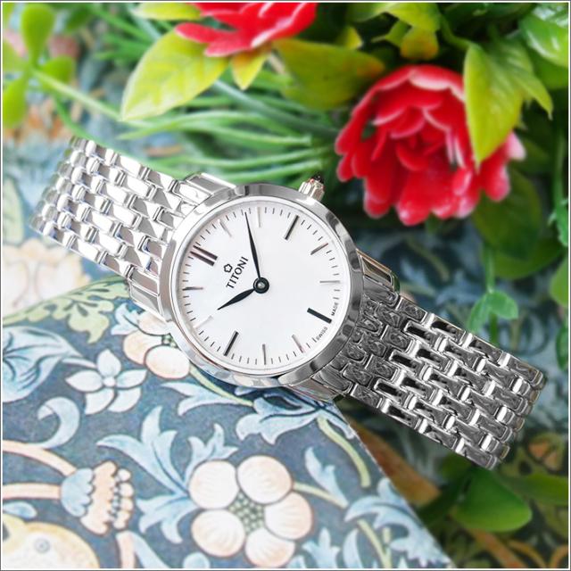 チトーニ TITONI 腕時計 TQ 42918 S-587 スレンダーライン SLENDER LINE レディース クォーツ メタルベルト