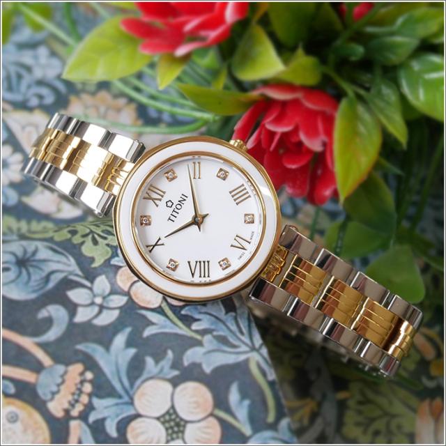 チトーニ TITONI 腕時計 TQ 42938 SY-W-548 ミスラブリー MISS LOVELY レディース クォーツ メタルベルト