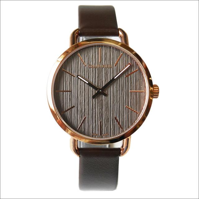 カルバンクライン CALVIN KLEIN 腕時計 CK K7B236G3 イーブン クォーツ レディース レザーベルト