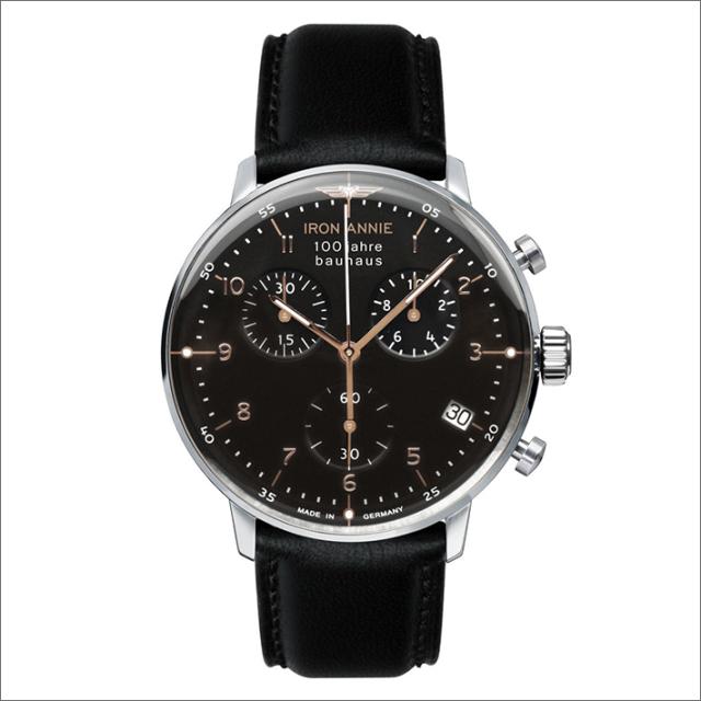 アイアンアニー IRON ANNIE 腕時計 5096-2QZ バウハウス クォーツ クロノグラフ メンズ レザーベルト