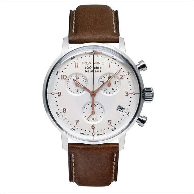 アイアンアニー IRON ANNIE 腕時計 5096-4QZ バウハウス クォーツ クロノグラフ メンズ レザーベルト